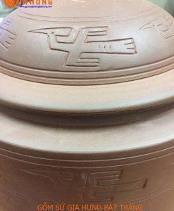 hũ đựng gạo bát tràng, hũ sành đựng gạo, hũ gạo vẽ phong cảnh, hũ đựng gạo phong thủy, hũ gạo tài lộc, thùng gạo bằng gốm