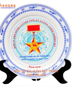 đĩa in logo, quà tặng gốm sứ, đĩa in logo, quà tặng gốm sứ, tranh đĩa gốm bát tràng, đĩa sứ bát tràng, đĩa vẽ cảnh trên gốm sứ