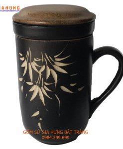 bộ cốc lọc trà, cốc lọc trà gốm bát tràng, cốc lọc trà gốm sứ, bộ cốc trà, cốc coffee bằng gốm, phin pha cà phê, tách coffee bằng gốm bát tràng