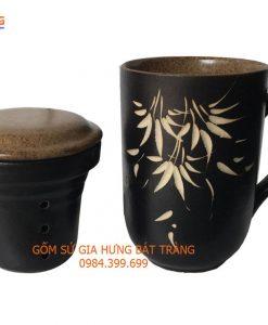 bộ lọc trà, bộ cốc lọc trà, cốc lọc trà gốm bát tràng, cốc lọc trà gốm sứ, bộ cốc trà, cốc coffee bằng gốm, phin pha cà phê, tách coffee bằng gốm bát tràng