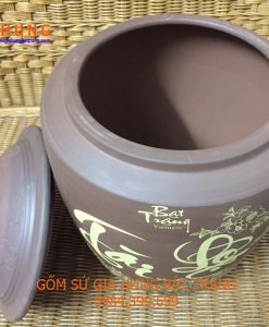 hũ đựng gạo, hũ đựng gạo bằng gốm sứ, hũ đựng gạo gốm bát tràng, hũ đựng gạo bát tràng, hũ sành đựng gạo, hũ gạo phong thủy