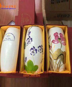lọ hoa in logo, bình hoa in logo, quà tặng gốm sứ, in logo lên gốm sứ, lọ hoa gốm sứ, bình hoa gốm sứ, lọ hoa gốm bát tràng, bình hoa gốm bát tràng, lọ hoa gốm, bình hoa gốm
