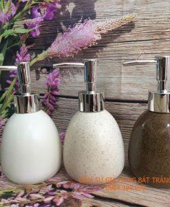 Bình xịt rửa tay bằng gốm sứ, bình đựng sữa tắm, bình đựng xà phòng gốm sứ, hộp đựng xà bông, bộ phụ kiện nhà tắm, shampoo, bath gell, dụng cụ nhà tắm, cốc đựng bàn chải