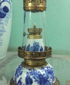 den dau tho, đèn dầu bọc đồng, đèn dầu gốm bát tràng, đèn dầu hoa văn khắc nổi, đèn dầu khắc nổi hoa văn
