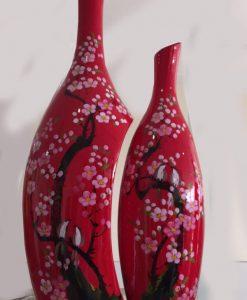 Bộ bình hoa sơn mài gốm Bát Tràng, lọ hoa in logo, lọ hoa khảm trứng bạc, bình hoa bát tràng, lọ hoa sơn mài, bình hoa sơn mài bát tràng