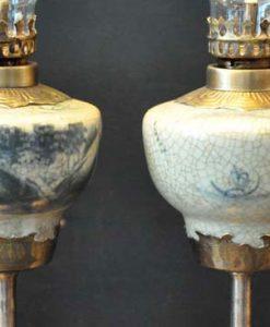 den dau tho, đèn dầu bọc đồng, đèn dầu gốm bát tràng, đèn dầu hoa văn khắc nổi, đèn dầu khắc nổi hoa văn, đèn thờ chân đồng gốm bát tràng