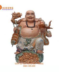 tượng gốm sứ, tượng phật di lặc bát tràng, tượng di lặc gốm sứ, tượng di lặc cao 50cm, tượng di lặc trưng bày