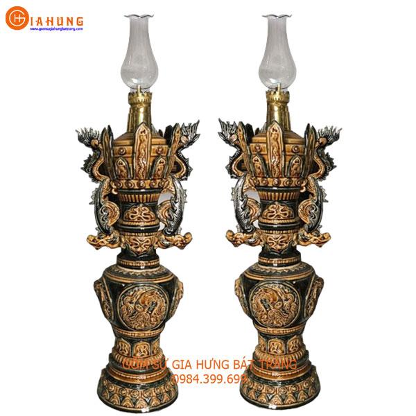 đèn dầu thờ, đèn dầu giả cổ, cây đèn dầu, chân đèn dầu