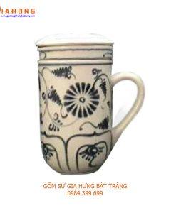 bộ cốc lọc trà, cốc lọc trà gốm bát tràng, cốc lọc trà gốm sứ