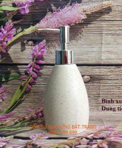 Bình xịt rửa tay bằng gốm sứ, bình đựng sữa tắm, bình đựng xà phòng gốm sứ, hộp đựng xà bông, bộ phụ kiện nhà tắm, shampoo, bath gell, dụng cụ nhà tắm