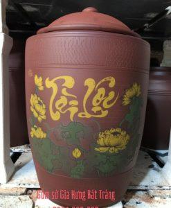 hũ đựng gạo 10kg 15kg 20kg 25kg 30kg, hũ gạo bát tràng, hũ sành đựng gạo, hũ gạo bằng gốm sứ, hũ gạo phong thủy, hũ gạo tài lộc, chum sành đựng gạo