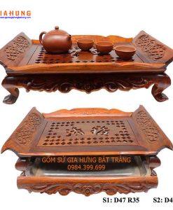 khay đựng ấm chén, khay trà ghỗ, khay ghỗ đựng ấm chén, khay ghỗ hương, khay chén ghỗ, khay chén bát tràng, khay tre, khay trà ghỗ hương, Khay trà gỗ nẹp đồng