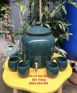 bình nước gốm Bát tràng, bình đựng nước, bình trữ nước bằng gốm, bình nước có vòi, bình sứ đựng nước, bình sứ bát tràng, bình sứ đựng nước có vòi